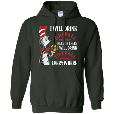 Cat In The Hat Fireball Hoodie - Forest Green - Shipping Worldwide - NINONINE