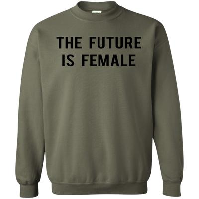 The Future Is Female Sweater - Military Green - Shipping Worldwide - NINONINE