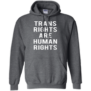 Trans Rights Are Human Rights Hoodie White