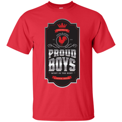 Proud Boys Shirt West Is The Best V2 - Red - Shipping Worldwide - NINONINE