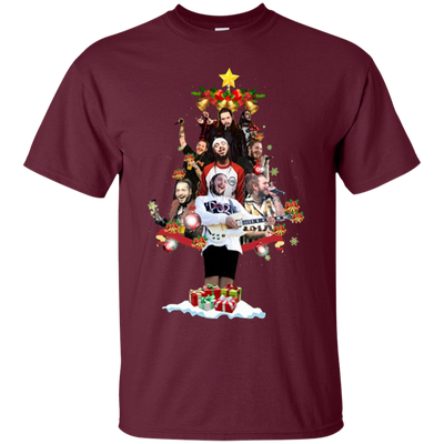 Post Malone Christmas Shirt - Maroon - Shipping Worldwide - NINONINE