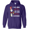 Cat In The Hat Fireball Hoodie - Purple - Shipping Worldwide - NINONINE