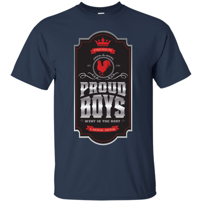Proud Boys Shirt West Is The Best V2 - Navy - Shipping Worldwide - NINONINE
