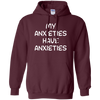 My Anxieties Have Anxieties Hoodie - Maroon - Shipping Worldwide - NINONINE