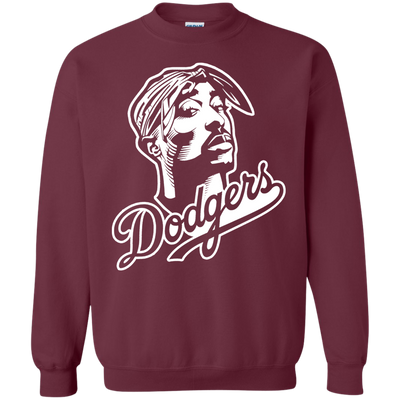 Tupac Dodgers Sweater - Maroon - Shipping Worldwide - NINONINE