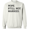 Nope Still Not Married Sweater Light - White - Shipping Worldwide - NINONINE