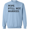 Nope Still Not Married Sweater Light - Light Blue - Shipping Worldwide - NINONINE