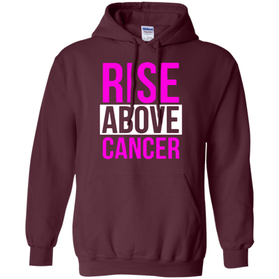 Rise Above Cancer Hoodie - Maroon - Shipping Worldwide - NINONINE