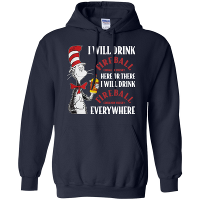 Cat In The Hat Fireball Hoodie - Navy - Shipping Worldwide - NINONINE