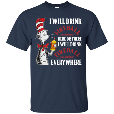 Cat In The Hat Fireball Shirt - Navy - Shipping Worldwide - NINONINE