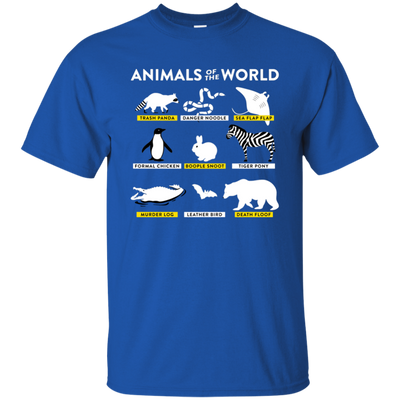 Animals Of The World Shirt - Royal - Shipping Worldwide - NINONINE