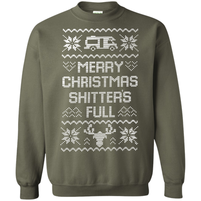 Shitters Full Sweater - Military Green - Shipping Worldwide - NINONINE