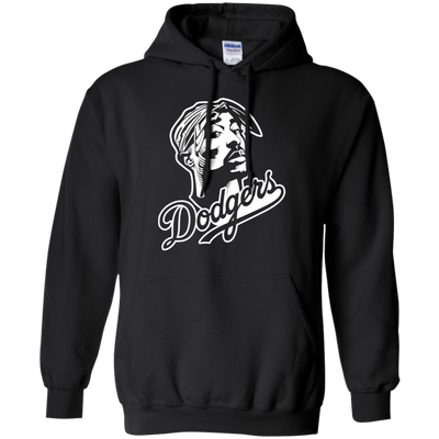 Tupac Dodgers Hoodie - Black - Shipping Worldwide - NINONINE