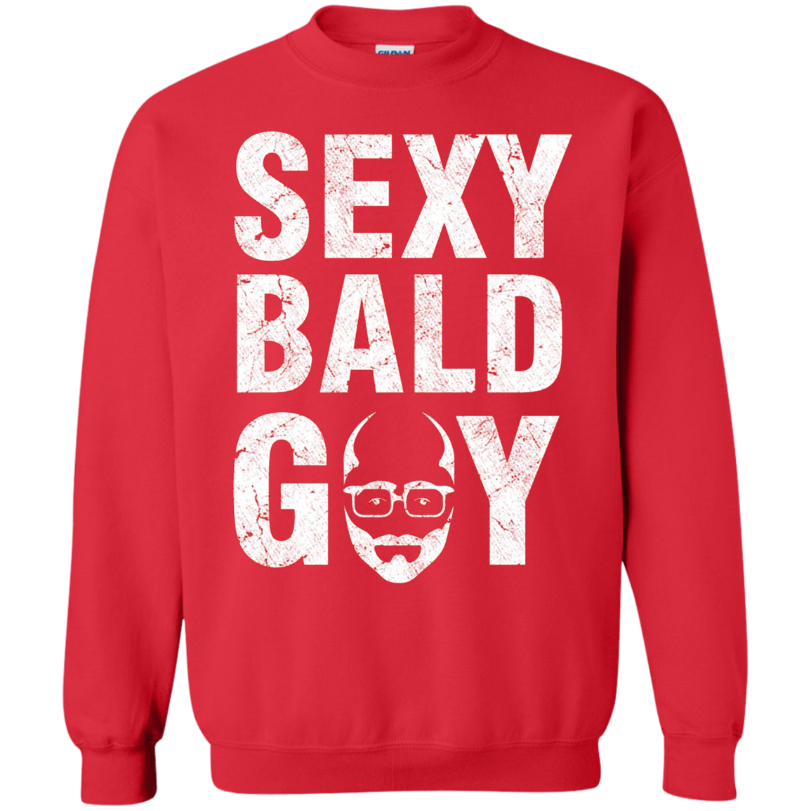 Red Sweater Bald Guy