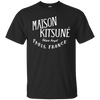 Maison Kitsune Shirt Dark - Black - Shipping Worldwide - NINONINE