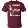 Cat In The Hat Fireball Shirt - Maroon - Shipping Worldwide - NINONINE