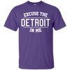 Excuse The Detroit In Me Shirt - Purple - Shipping Worldwide - NINONINE