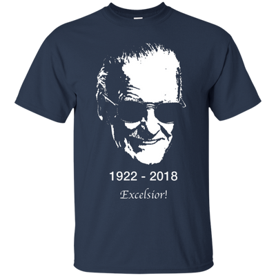 Stan Lee Shirt - Navy - Shipping Worldwide - NINONINE