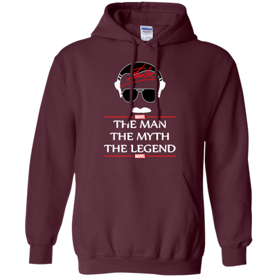 Stan Lee The Man The Myth The Legend Hoodie - Maroon - Shipping Worldwide - NINONINE
