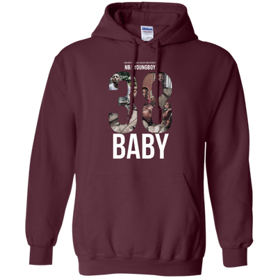 38 Baby Hoodie NBA Youngboy - Maroon - Shipping Worldwide - NINONINE