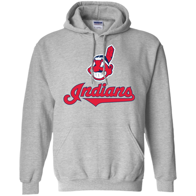 Cleveland Indians Hoodie 2 - Sport Grey - Shipping Worldwide - NINONINE