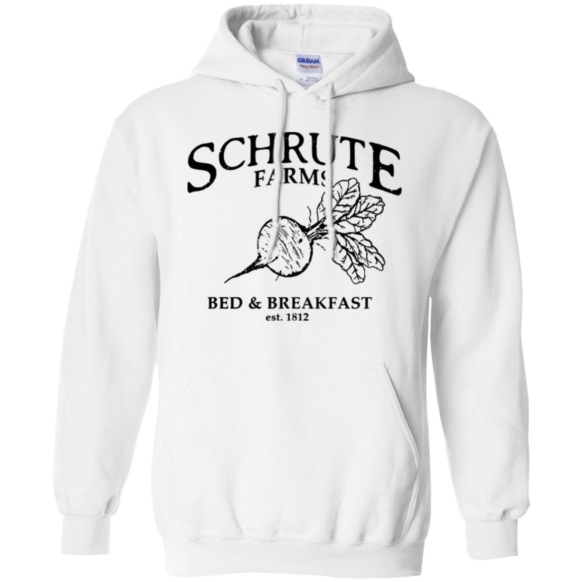 103f9387a81 Schrute Farms Bed And Breakfast Est 1812 Hoodie - White - Shipping Worldwide  - NINONINE