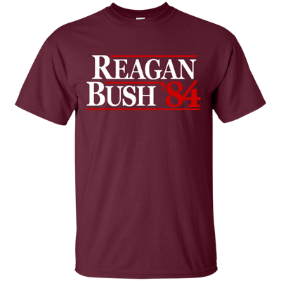 Reagan Bush T Shirt - Maroon - Shipping Worldwide - NINONINE