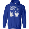 Emotionally Unavailable Hoodie - Royal - Shipping Worldwide - NINONINE