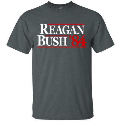 Reagan Bush T Shirt - Dark Heather - Shipping Worldwide - NINONINE