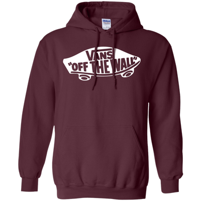 Vans Off The Wall Hoodie Dark - Maroon - Shipping Worldwide - NINONINE