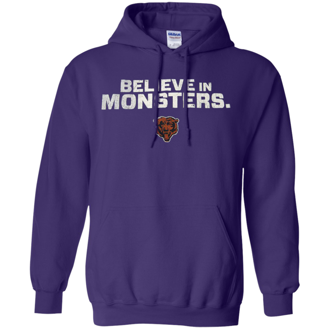 size 40 a9851 9797b Believe In Monsters Chicago Bears Hoodie