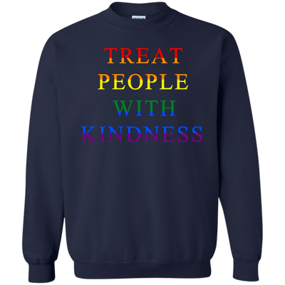 Treat People With Kindness Sweater Pride - Navy - Shipping Worldwide - NINONINE