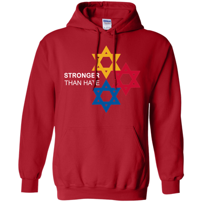Pittsburgh Stronger Than Hate Hoodie - Red - Shipping Worldwide - NINONINE