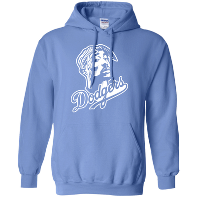 Tupac Dodgers Hoodie - Carolina Blue - Shipping Worldwide - NINONINE