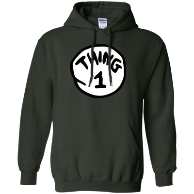 Thing 1 Hoodie - Forest Green - Shipping Worldwide - NINONINE
