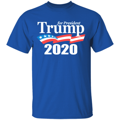 Trump 2020 T Shirt - Royal - Worldwide Shipping - NINONINE