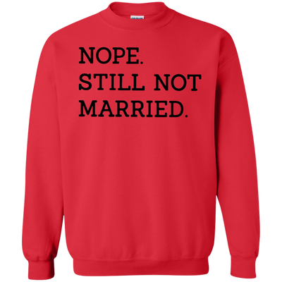 Nope Still Not Married Sweater Light - Red - Shipping Worldwide - NINONINE