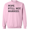 Nope Still Not Married Sweater Light - Light Pink - Shipping Worldwide - NINONINE
