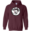 Thing 1 Hoodie - Maroon - Shipping Worldwide - NINONINE