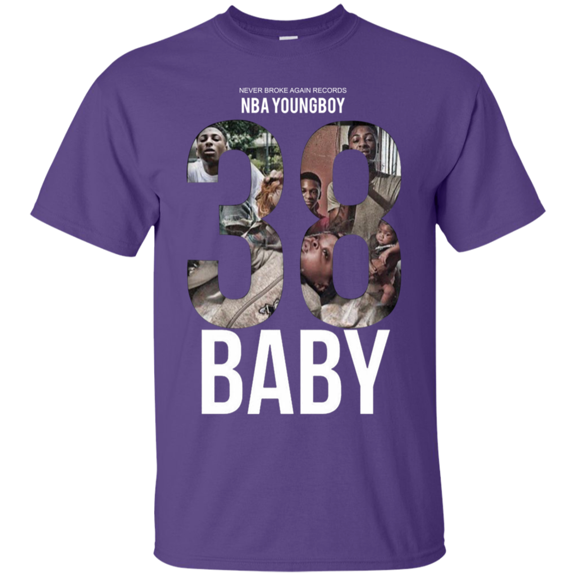2d00f75e5 38 Baby Shirt NBA Youngboy - Purple - Shipping Worldwide - NINONINE