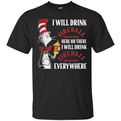 Cat In The Hat Fireball Shirt - Black - Shipping Worldwide - NINONINE