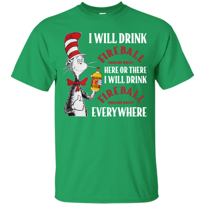 Cat In The Hat Fireball Shirt - Irish Green - Shipping Worldwide - NINONINE