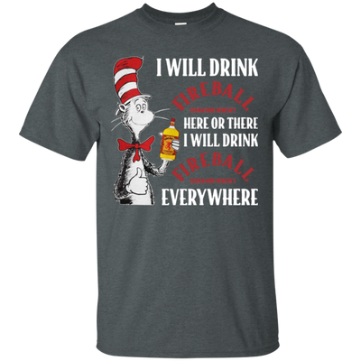 Cat In The Hat Fireball Shirt - Dark Heather - Shipping Worldwide - NINONINE