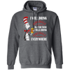 Cat In The Hat Fireball Hoodie - Dark Heather - Shipping Worldwide - NINONINE
