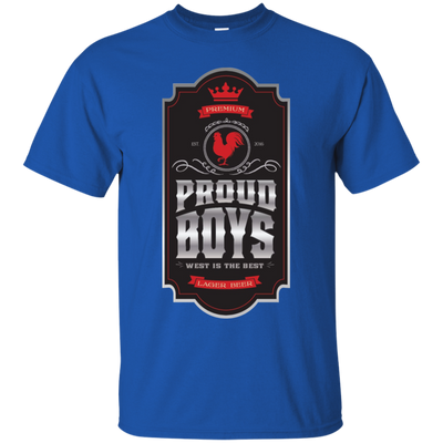 Proud Boys Shirt West Is The Best V2 - Royal - Shipping Worldwide - NINONINE