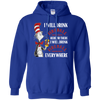 Cat In The Hat Fireball Hoodie - Royal - Shipping Worldwide - NINONINE