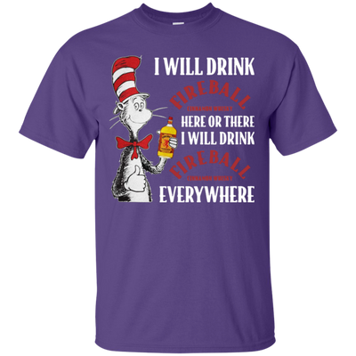Cat In The Hat Fireball Shirt - Purple - Shipping Worldwide - NINONINE