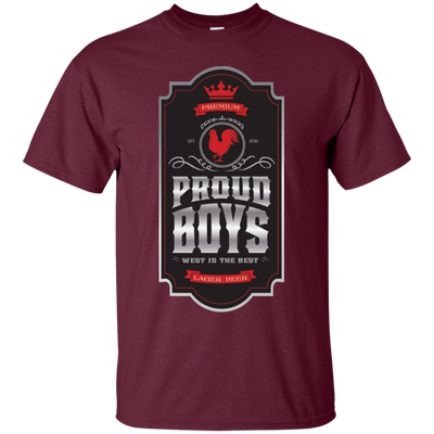 Proud Boys Shirt West Is The Best V2 - Maroon - Shipping Worldwide - NINONINE