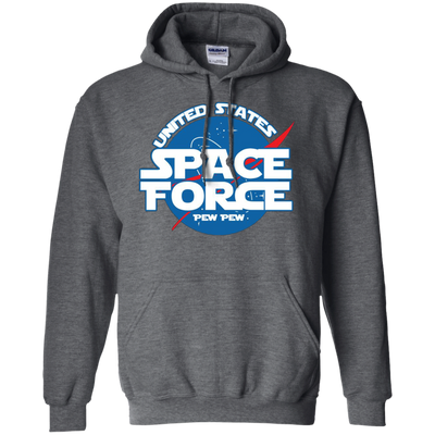 United States Space Force Pew Pew Hoodie - Dark Heather - Shipping Worldwide - NINONINE