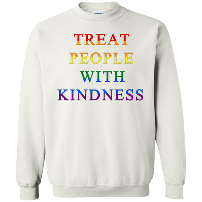 Treat People With Kindness Sweater Pride - White - Shipping Worldwide - NINONINE